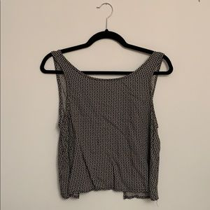 Open back tank top from brandy melville